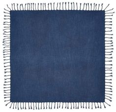 Indigo Knotted Table Throw