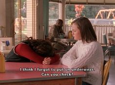 Oh Gilmore Girls funny @Jenna Lunney I would do this to you