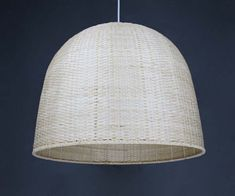 Hand Woven From Bamboo Big Lighting-Pendant Light Fixture-Countryside…