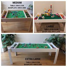 30a2dd4c5 Building bricks table, Activity table, Building blocks table, kids table,  compatible with