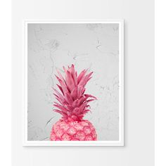 Pineapple, Pineapple decor, Pineapple Art, Rose gold print, pineapple... ($6) ❤ liked on Polyvore featuring home, home decor, wall art, coral home accessories, pink home accessories, printable wall art, pink flamingo wall art and rose gold wall art
