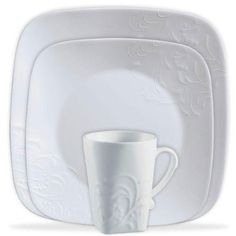CORELLE Boutique Cherish Embossed Square 16pc Set -- Click on the image for additional details.