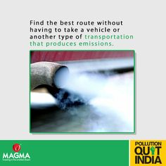 Use alternatives for short distances; walk or get a bicycle. This saves fuel along with not polluting the environment.