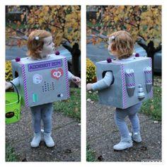 Halloween- Toddler Robot Costume!