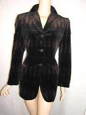 MOSCHINO Womens 10 RARE- WOMEN ACROSS the DECADES - Vintage VELVET Blazer Jacket