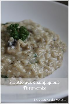 recette-thermomix-risotto-champignons Vegan Ricotta, Mediterranean Recipes, Naan, Bon Appetit, Pasta Recipes, Great Recipes, Food Porn, Easy Meals, Food And Drink
