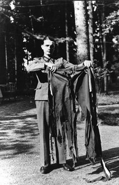Adolf Hitler's pants after the assassination attempt at the Wolf's Lair. Rastenburg, East Prussia, 1944.