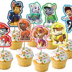 33 Ideas For Birthday Kids Printable Paw Patrol Paw Patrol Cupcake Toppers, Paw Patrol Cupcakes, Paw Patrol Birthday Cake, Paw Patrol Cake, Paw Patrol Party, Birthday Cupcakes, Party Cupcakes, Fete Emma, Cumple Paw Patrol