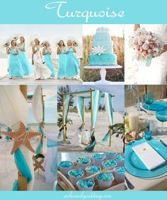 Turquoise Wedding Color -Read more at http://blog.exclusivelyweddings.com/2014/02/15/the-10-all-time-most-popular-wedding-