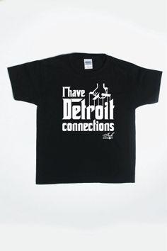 I HAVE DETROIT CONNECTIONS Toddler T-Shirt - Black
