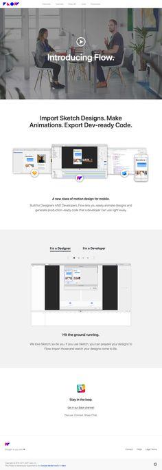 Flow landing page design inspiration - Lapa Ninja Best Landing Page Design, How To Make Animations, New Class, Sketch Design, Motion Design, Tool Design, Ninja, Flow, Software