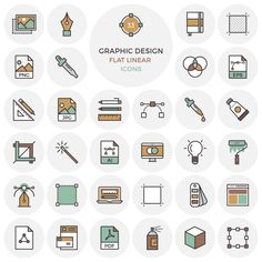 Flat Vector Graphic Design Icon Icons AI EPS Flat Free Graphic Design Icon Outline PNG PSD Resource SVG Vector