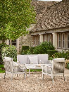 NEW Ravenna Lounge Set Painted Outdoor Furniture, Garden Furniture, Garden Chairs, Wood Furniture, Outdoor Dining Set, Outdoor Living, Outdoor Decor, New Ravenna, English Country Gardens