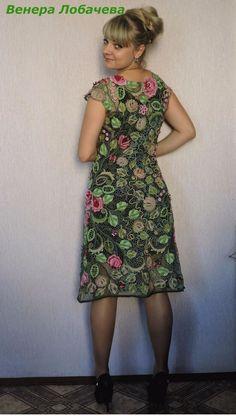 Платье туника кардиган вязаный