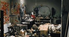 Francis Bacon, painter. | 40 Inspiring Workspaces Of The Famously Creative