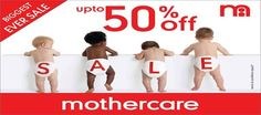 BIGGEST EVER SALE- UPTO 50% OFF ON APPARELS and UPTO 50% OFF on WIPES @ MOTHERCARE Stores!