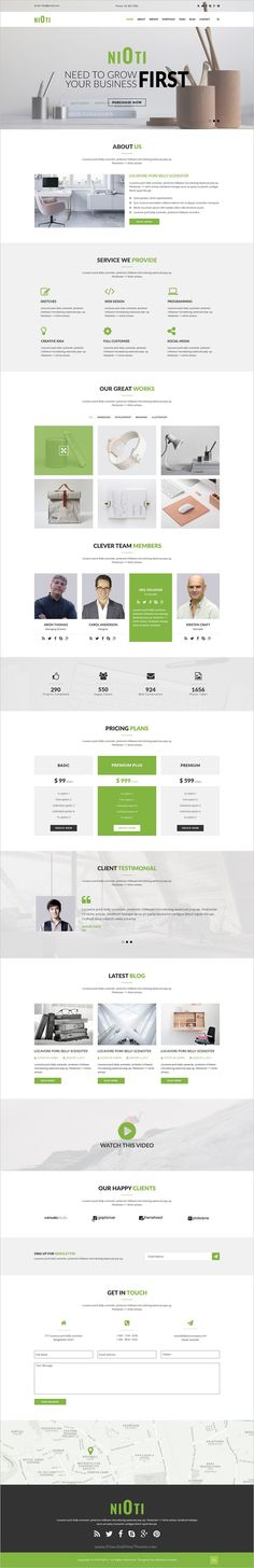 NIOTI is clean, modern and professional #PSD Template for #onepage multipurpose #website download now➩ https://themeforest.net/item/nioti-one-page-multipurpose-psd-template/19237992?ref=Datasata