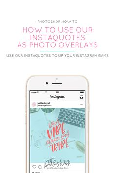 One of the products we are offering here at Just Darlin' Y'all are our InstaQuotes. I'm going to show you how to apply InstaQuotes to your Instagram photos so you can see more love in your Instagram feed. We want to help you get more love and likes on Instagram! These quotes are designed to give you the flexibility to customize them to match your brand with versatility.