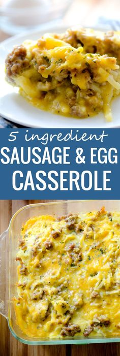 5 Ingredient Sausage and Egg Casserole  - easy recipe to make  for Christmas morning- Recipe Diaries