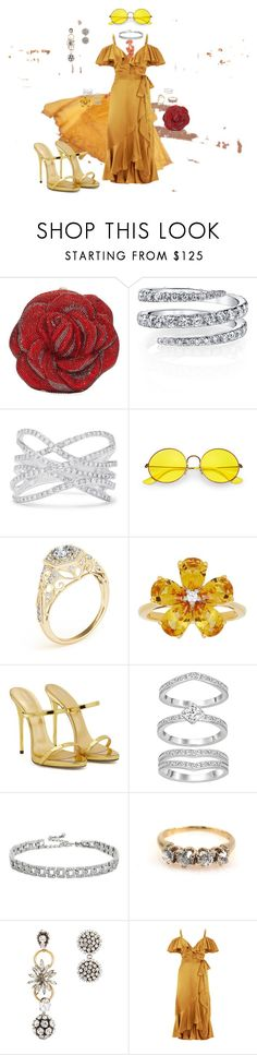 """""""ROSES ARE RED BEAUTY IS gOLD"""" by relfelipa ❤ liked on Polyvore featuring Disney, Judith Leiber, Effy Jewelry, Ray-Ban, David Tutera, Giuseppe Zanotti, Kenneth Jay Lane, Marni, Temperley London and BeautyandtheBeast"""