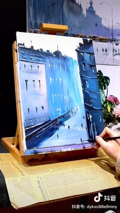 Canvas Painting Tutorials, Painting Techniques, Cute Canvas Paintings, Small Canvas Art, Guache, Cool Art Drawings, Arte Pop, Gouache Painting, Acrylic Art