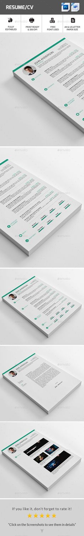 Resume Template #design Download: http://graphicriver.net/item/resume/12042123?ref=ksioks