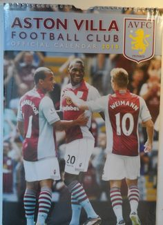 Aston Villa Official 2014 Calendar cm AVFC Weimann Vlar Benteke Guzan Clark Safely Stored For Several Years This Will be a great Gift for any Fan Shipping will be within 2 days of your payment All Sales are Guaranteed Satisfaction We. Aston Villa, Number One, Calendar, Fans, Football, Baseball Cards, Gift, Soccer, Futbol