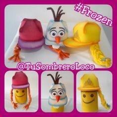 Listas las #gorras de #Frozen #Anna #Elsa y #Olaf para #fiestas #infantiles #Curso