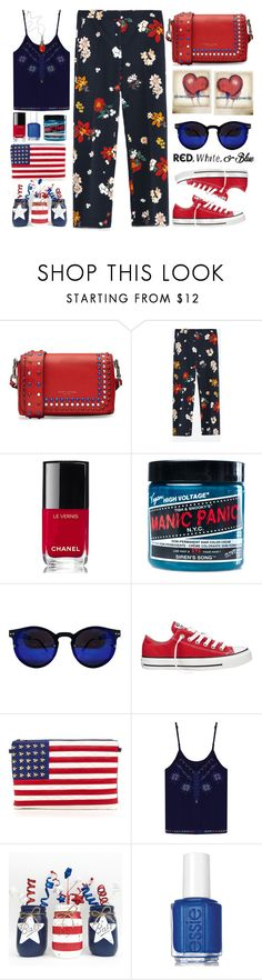 """""""Freedom  """" by karineminzonwilson ❤ liked on Polyvore featuring Marc Jacobs, Zara, Chanel, Manic Panic NYC, Converse, Polaroid, Essie, Georg Jensen, redwhiteandblue and july4th"""