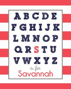 Customizable Alphabet Names- LOVE this!  So fun for a kid's room!
