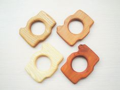Wooden teething toy Camera Baby shower Baby Teether Wood ring Toys for babies Newborn gift Eco friendly Organic Grasping toy by WoodenCaterpillar on Etsy