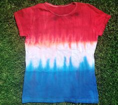 4th of July craft - patriotic tie dye