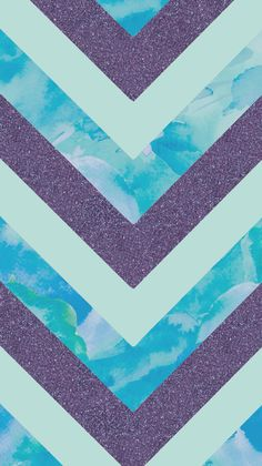 Purple glitter water color chevron