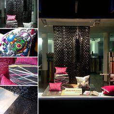 Pink Black pink schwarz Dekostoff von #Jabanstoetz und #Kissen von #Designersguild #Lacroix #Christianlacroix #cushion und #Parkett von #Kährs #Kaehrs bei #Rademann #Kiel #Raumausstatter