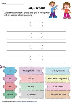 Conjunctions | Cut and Glue