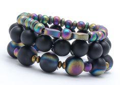 Bracelets – Set of 3 bracelets BL668 – a unique product by Blackif on DaWanda