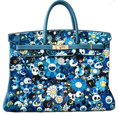 Custom Takashi Murakami Painted Birkin Bag