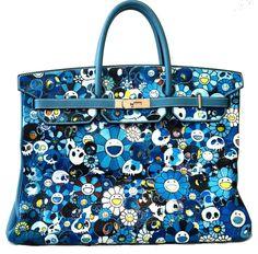 Custom Takashi Murakami Painted Birkin Bag