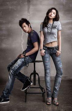 Shin Se-kyung and B2ST Doojoon Buckaroo Jeans