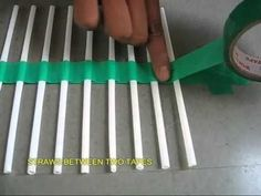 STRAW WAVES - HOW TO Only two materials needed. Perfect teaching tools for demonstrating the movement of waves, and frequency.