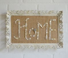 Creating a family keepsake or special gift using vintage buttons, a little sparkle, a burlap backdrop and a pretty frame. Yes...please! First things first, and…