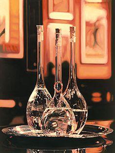 Grappa Bottles or whiskey bottles, Schnapps, Hyperrealism, Wine Decanter, Whiskey Bottle, Joseph, Bottles, December, Packaging, Nyc