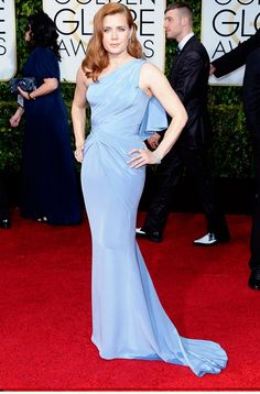 Amy Adams in a Versace gown, Tiffany & Co. jewelry and Jimmy Choo sandals at the 72nd Annual Golden Globes