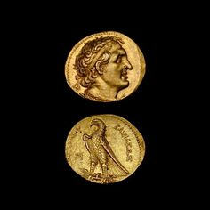 Gold Pentadrachm of the King Ptolemy II - C.2034          Origin: Egypt          Circa: 285 BC to 246 BC