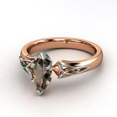 Fiona Marquise Smoky Quartz Rose Gold Ring