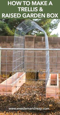 How To Make a Trellis & Raised Garden Box    Weed 'Em and Reap