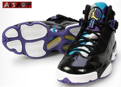 timeless design 0b996 9dfee Air Jordan Six Rings GS – Black Vibrant Yellow Varsity Purple – Now  Available