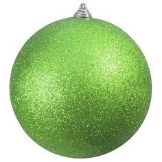 Europalms Deko 83501275 Dekokugel 20 cm glitzer, apfelgrün Dekokugel für Innen- und Außendekoration ¨ Als Garten- und Weihnachtsdeko geeignet