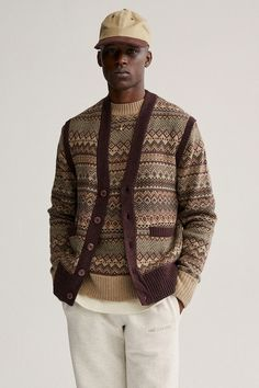 Fall / Winter 2020. The World's Borough. – Aimé Leon Dore Mulberry Logo, Boy Fashion, Mens Fashion, Fashion Wear, Aime Leon Dore, Fair Isle Knitting, Knit Vest, Fall Winter, Men Sweater