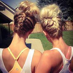 <3 braided + bun